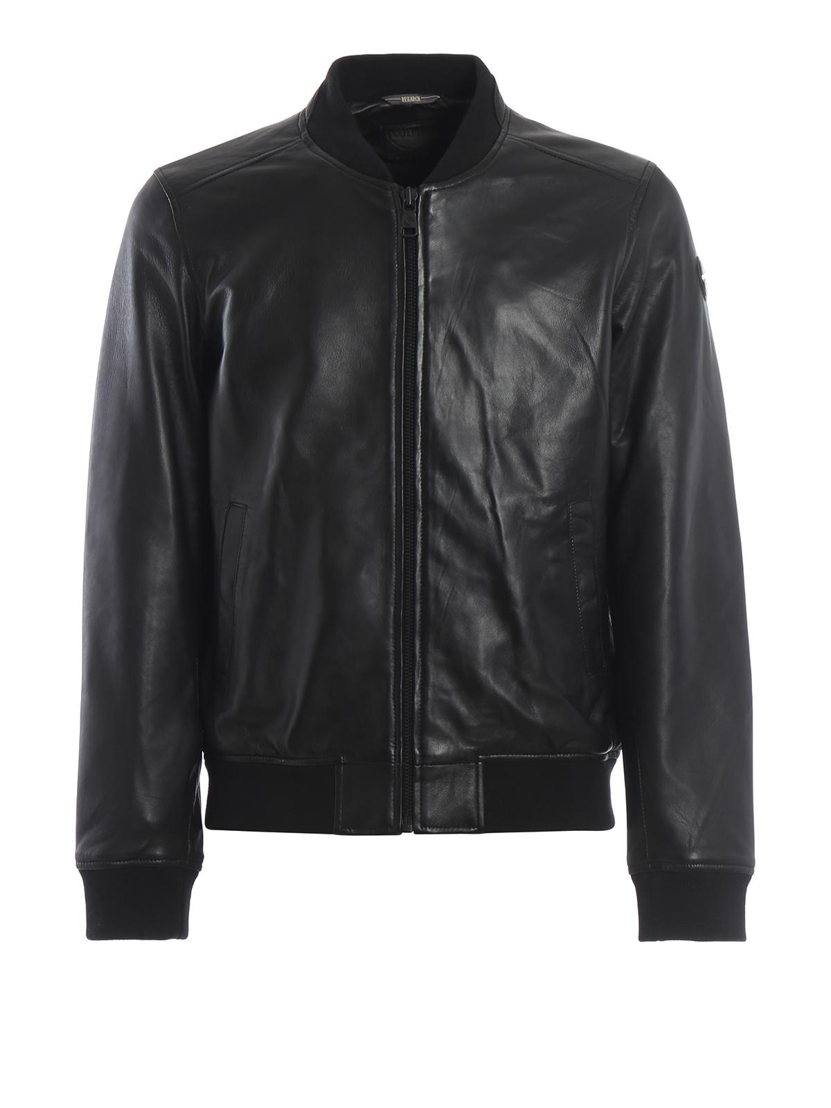 Colmar Originals Bomber Creation in pelle nera giacche