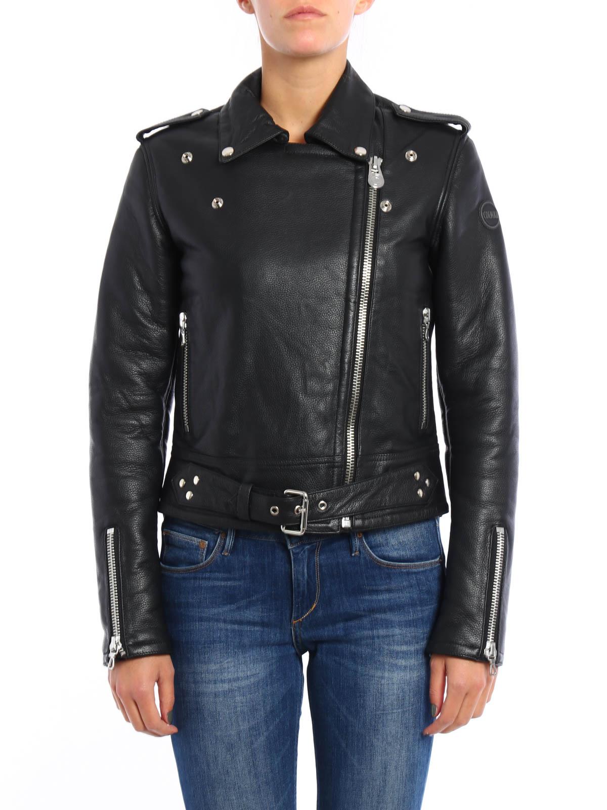Colmar Originals Giacca biker in pelle giacche in pelle