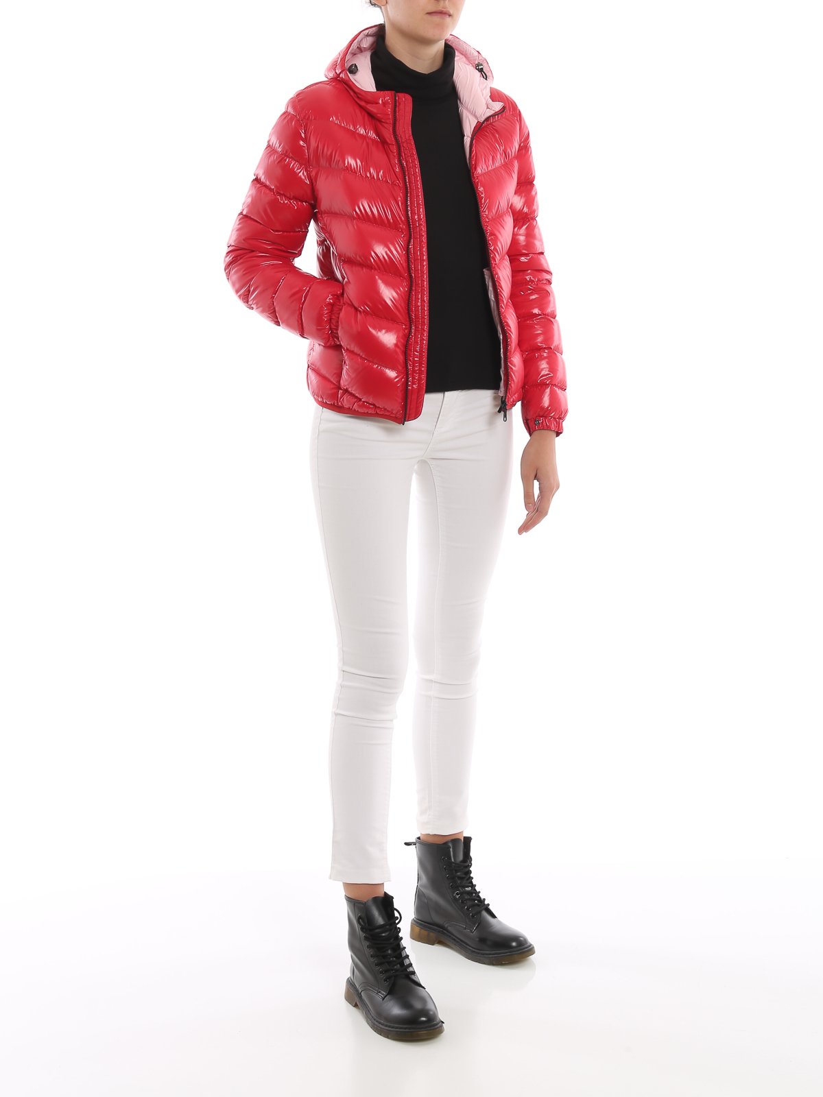 Colmar Originals Glossy red hooded puffer jacket padded