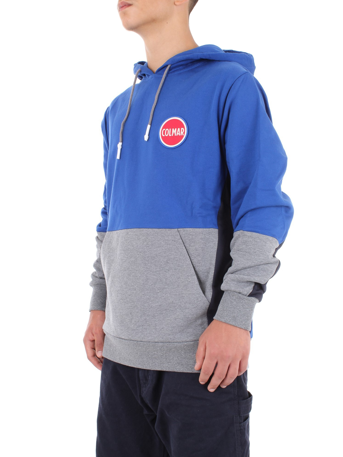 Hoodie Blu Colourblock Colmar Colore Zip Di 4xUxY