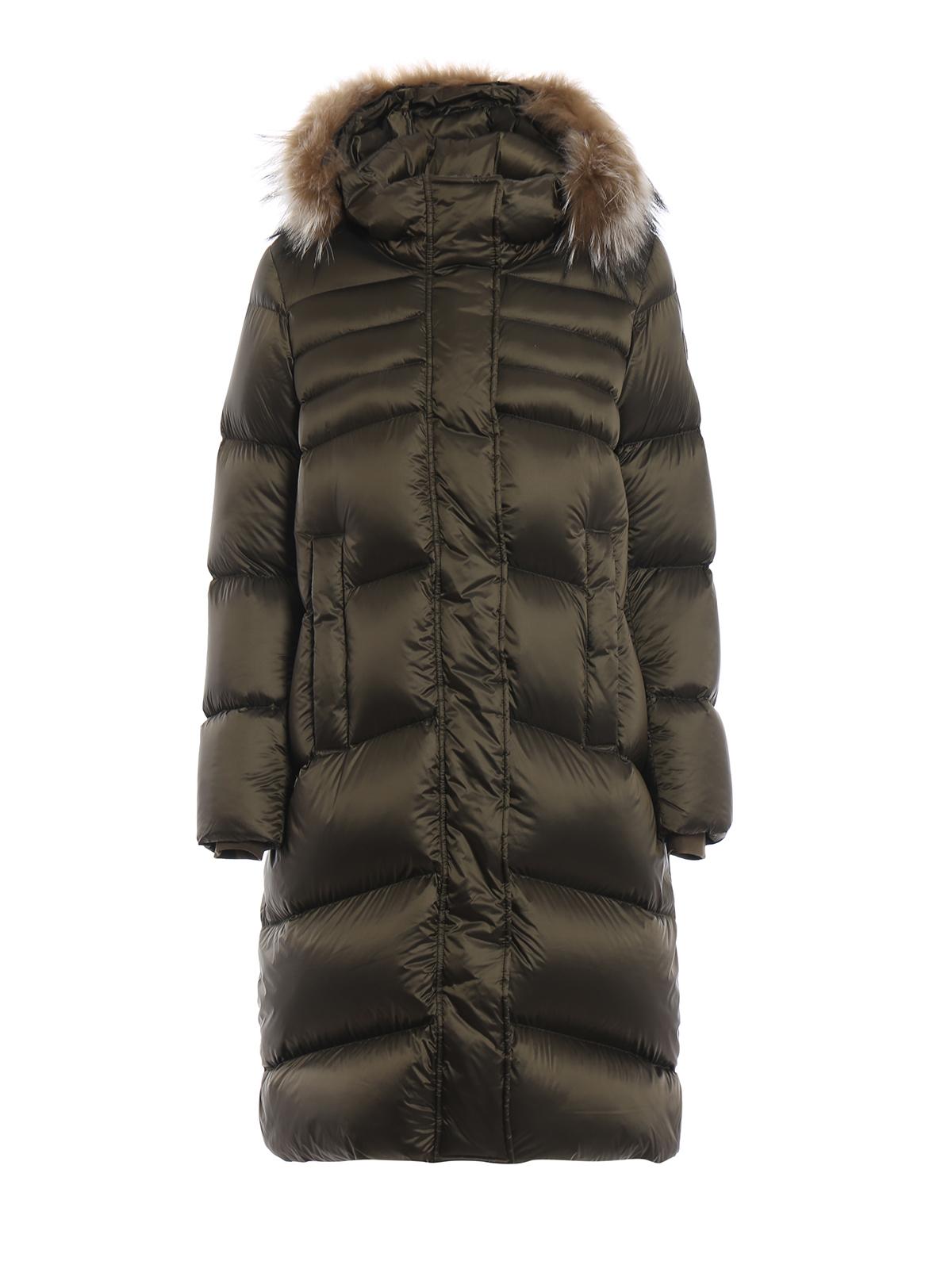 Colmar Originals  cappotti imbottiti - Piumino lungo verde con cappuccio 37dc0c0db363