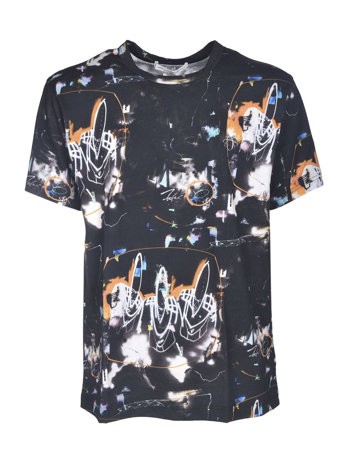 Comme Des Garçons Shirt T-shirts PRINTED T-SHIRT IN BLACK