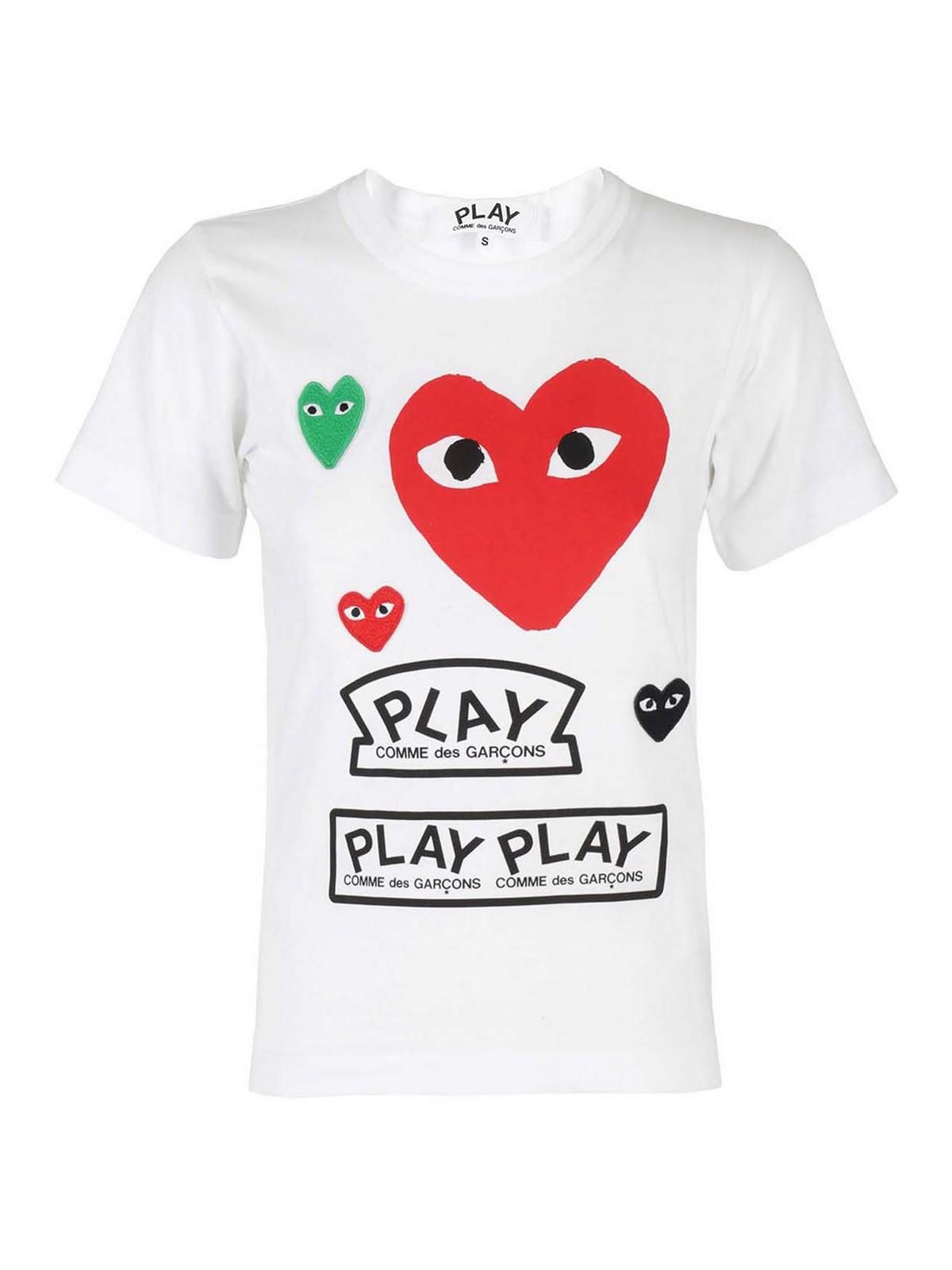 Comme Des Garçons Play HEART PATCH T-SHIRT