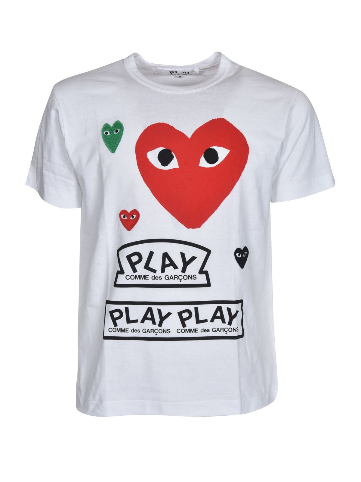 Comme Des Garçons Play T-shirts PRINTED T-SHIRT IN WHITE