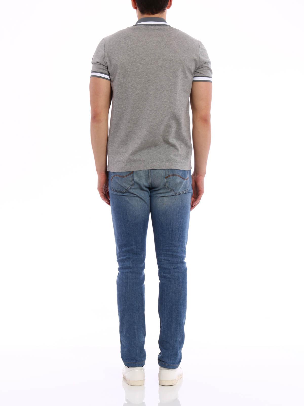 Contrasting collar polo shirt by moncler polo shirts for Moncler polo shirt sale