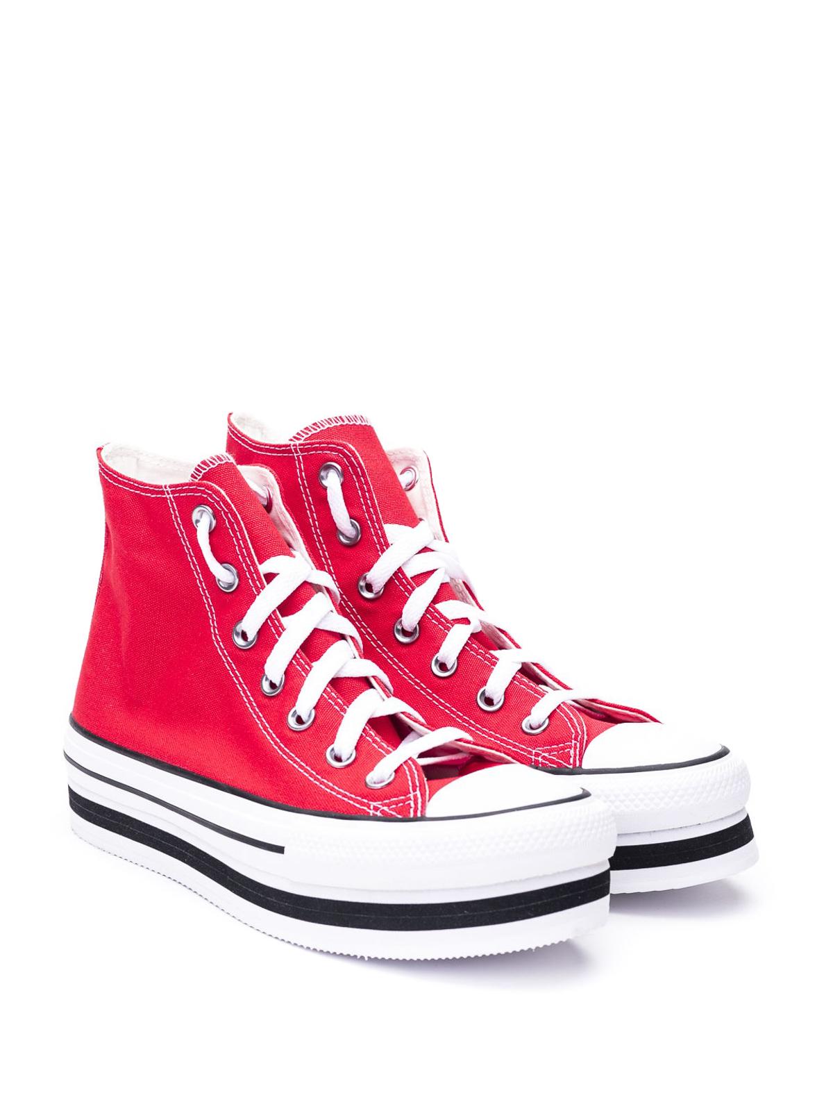 Converse - Chuck Taylor Platform red