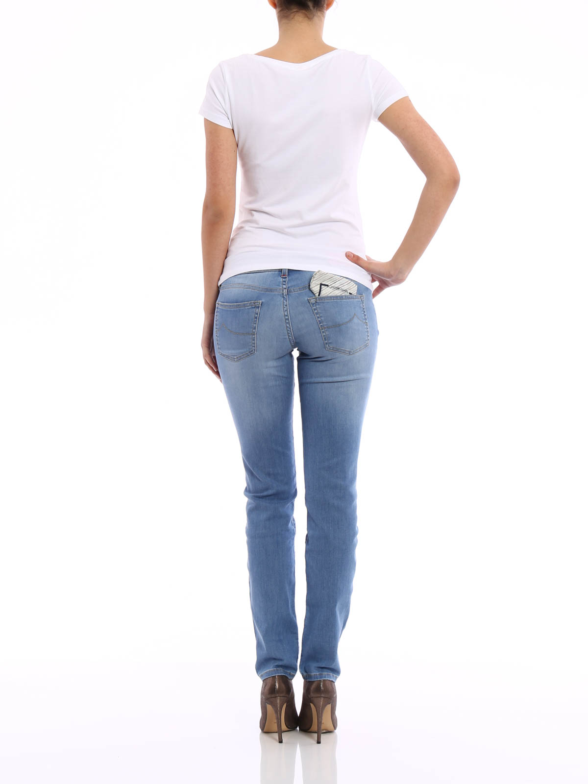 jeans corine jacob cohen jeans dritti a sigaretta ikrix. Black Bedroom Furniture Sets. Home Design Ideas