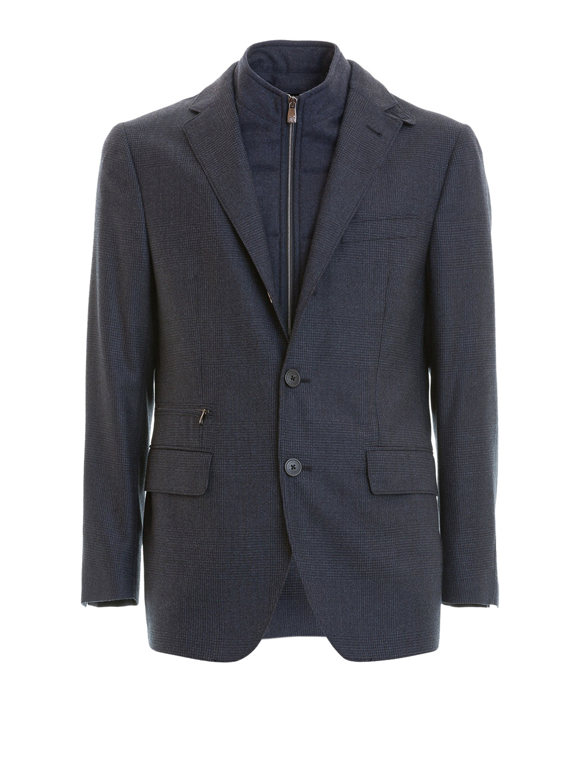 Corneliani - Blazer in lana blu imbottito - giacche blazer ... 2c99222d0cb