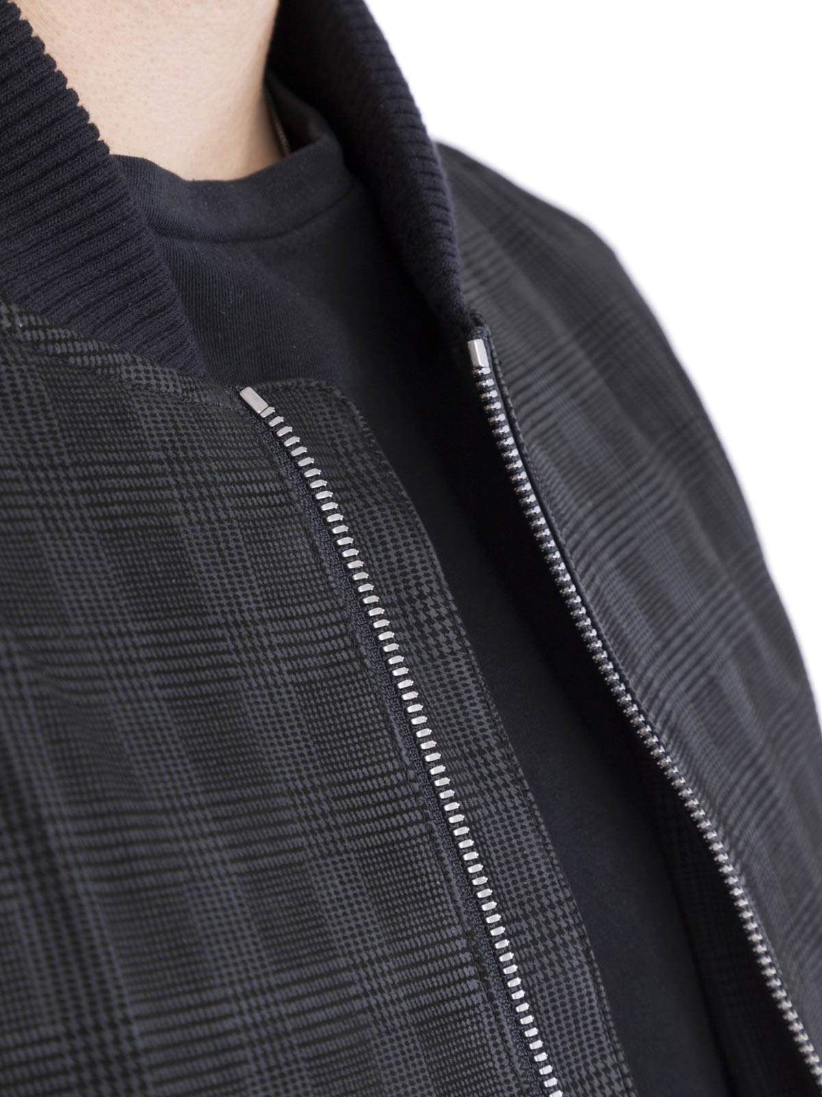 4d0f0a1e4 Corneliani - Black nappa bomber jacket - leather jacket ...