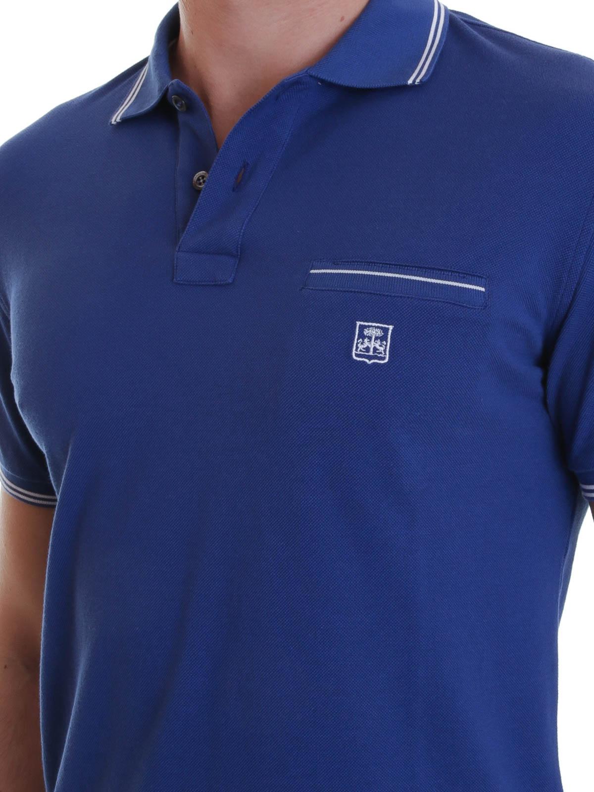 a1a60e64 Corneliani - Polo with contrasting stripes - polo shirts - 15018 09 G572