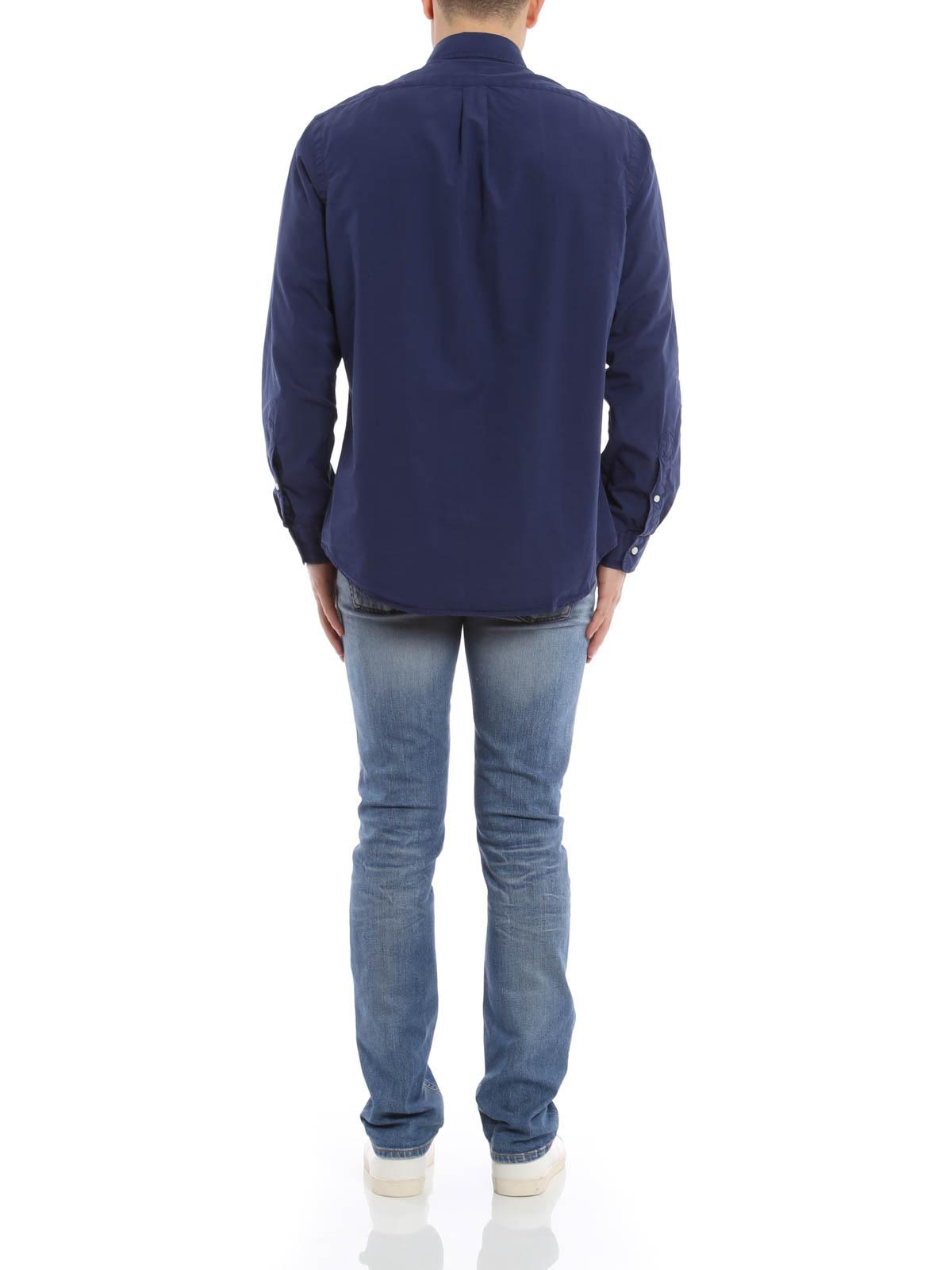 camicia di cotone e seta polo ralph lauren camicie ikrix. Black Bedroom Furniture Sets. Home Design Ideas