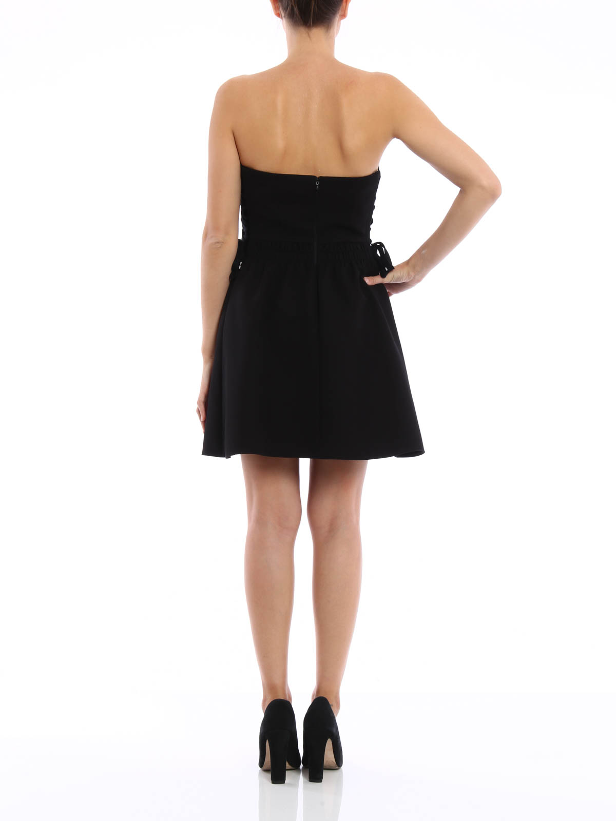 cotton cady dress by valentino red short dresses shop. Black Bedroom Furniture Sets. Home Design Ideas