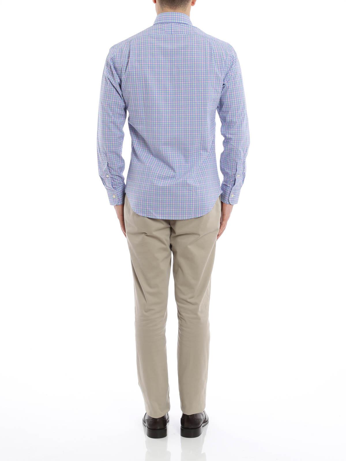 camicia in cotone a quadretti polo ralph lauren camicie. Black Bedroom Furniture Sets. Home Design Ideas