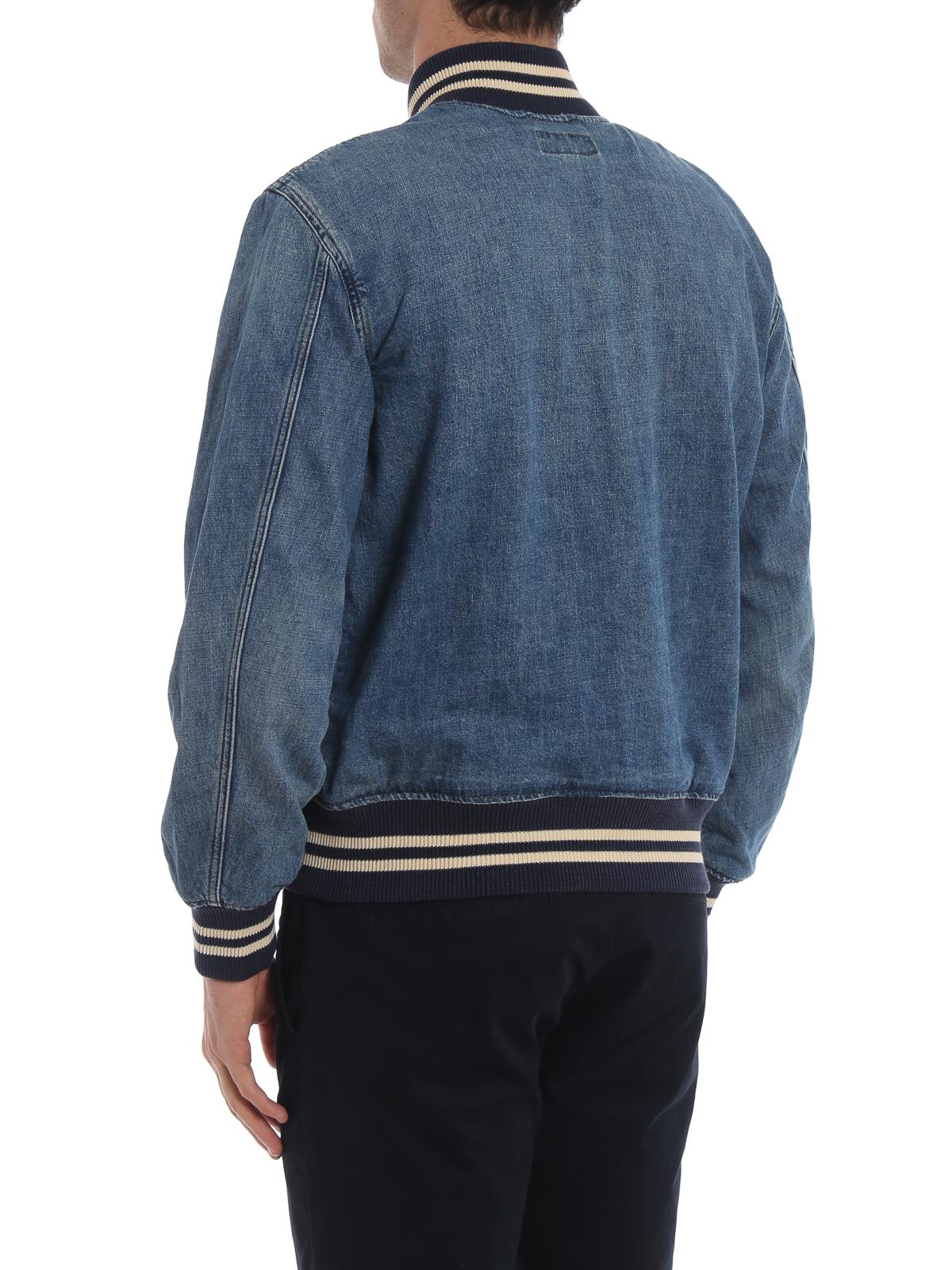 cd7fb178a4c422 Polo Ralph Lauren - Cotton denim bomber jacket - denim jacket ...