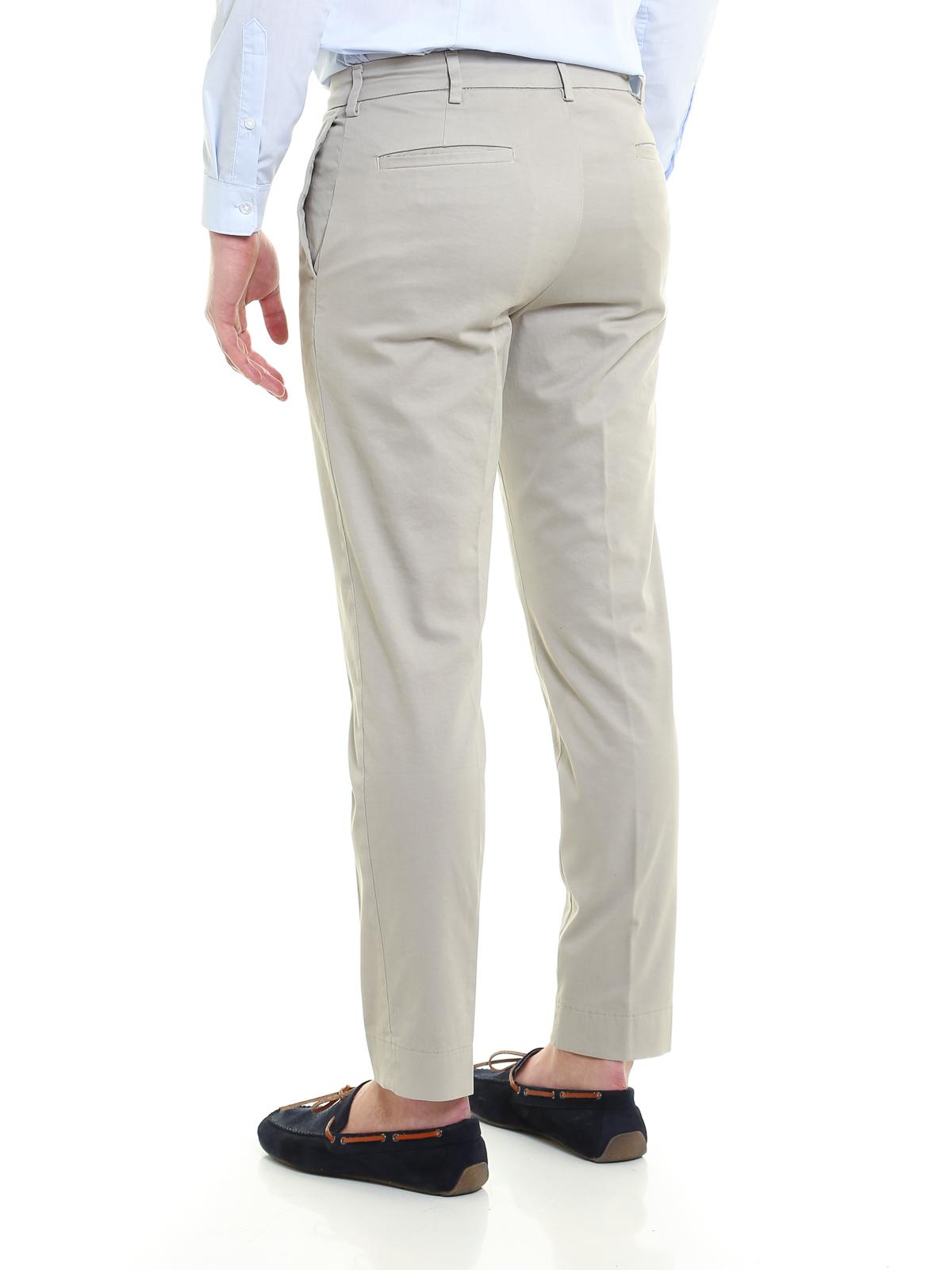Siviglia - Pantaloni chino in drill di cotone - pantaloni casual ... 19f4788a3d2
