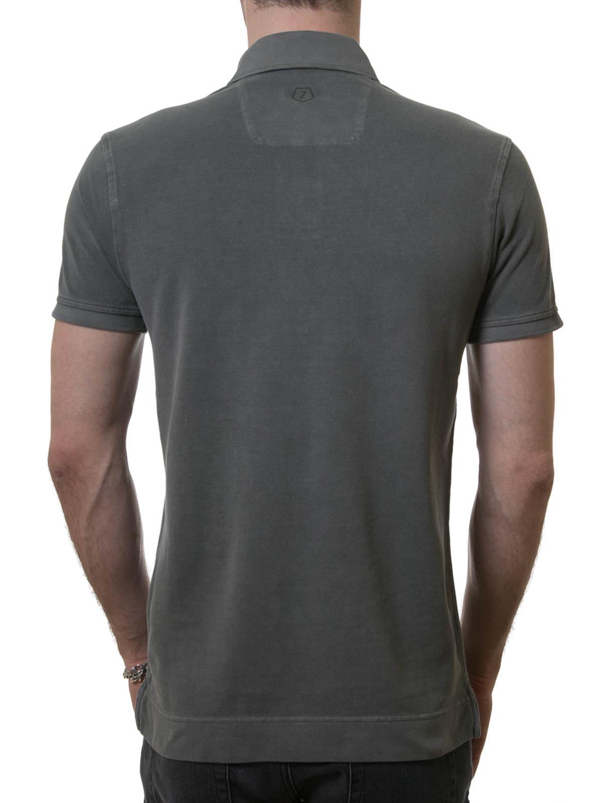 Cotton piquet polo shirt by z zegna polo shirts shop for Zegna polo shirts sale