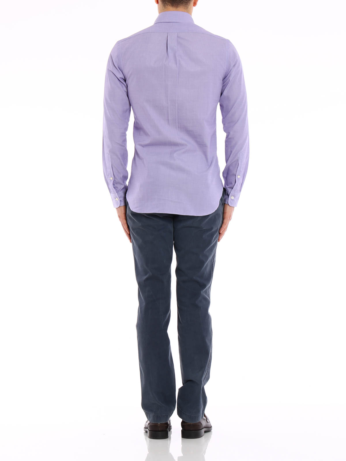 Cotton slim fit shirt with logo by ralph lauren shirts for Ralph lauren shirts outlet online