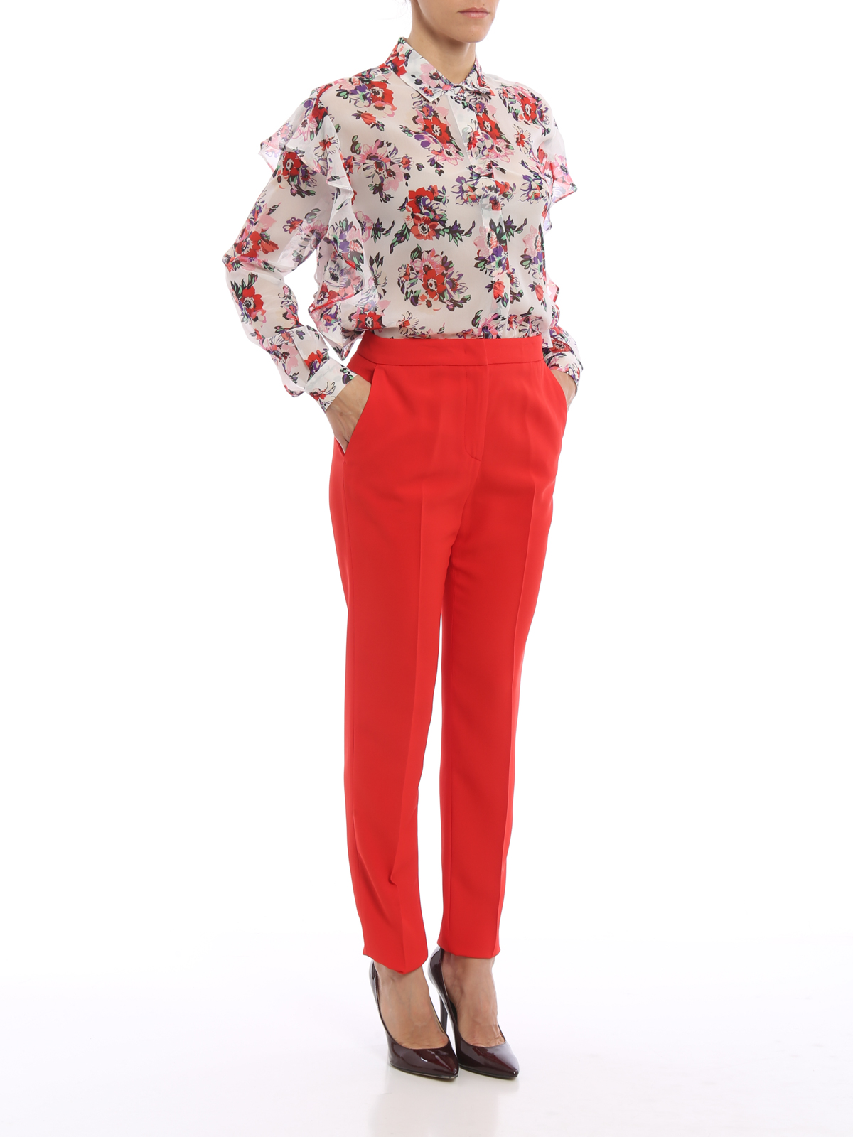 Sacrificio Traidor Bosque Pantalon Vestir Rojo Mujer Ocmeditation Org