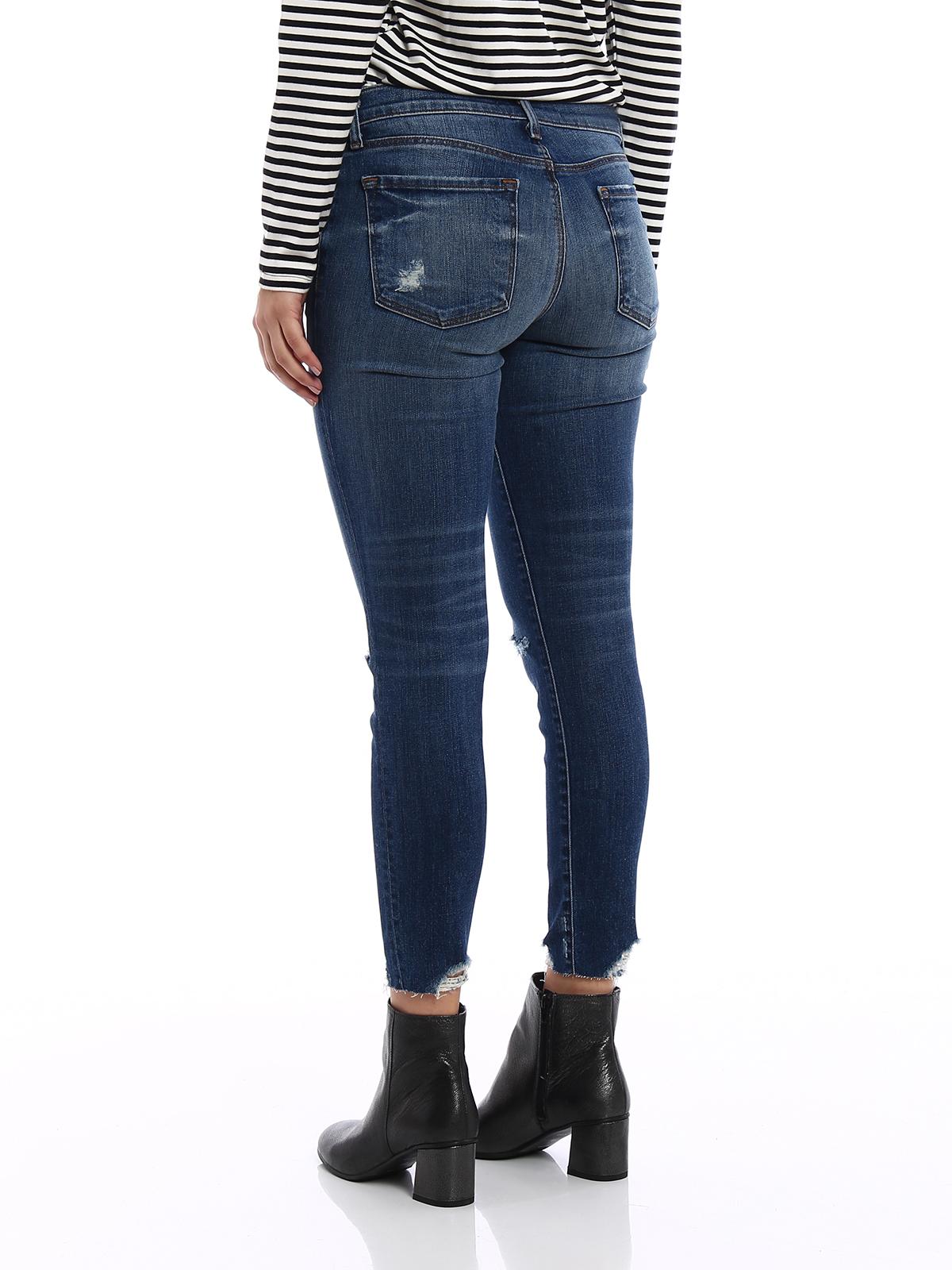 f18497c0aa5a6 J Brand - Cropped destruct denim jeans - skinny jeans - JB001102 ...