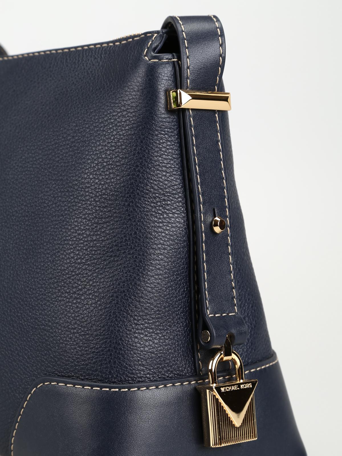 52aadde9fd3797 Michael Kors - Crosby admiral leather medium messenger bag - cross ...