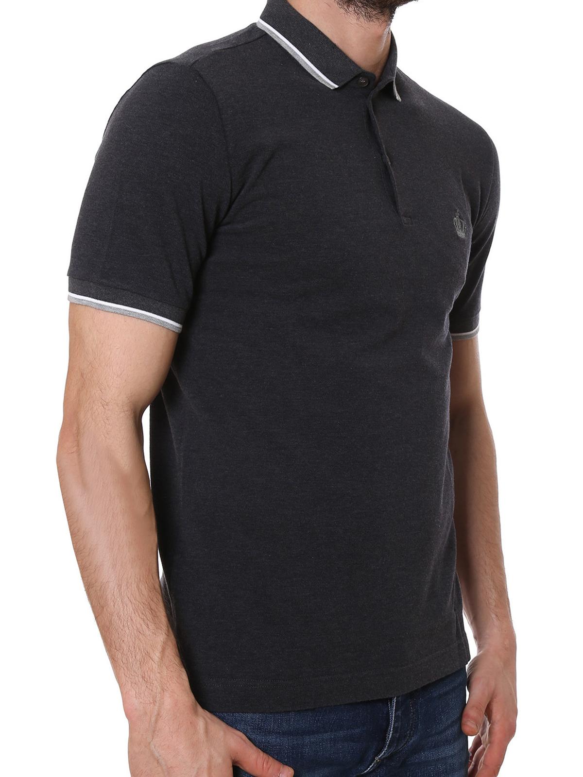 7f6eedd64 Dolce & Gabbana - Crown embroidered polo shirt - polo shirts ...