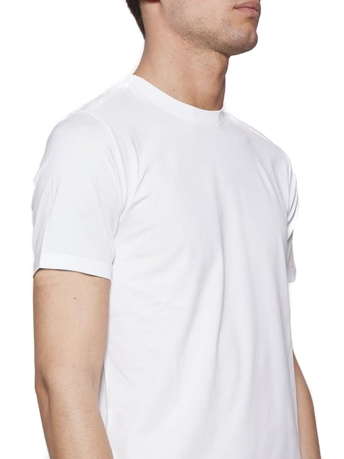 huge discount 3c86a 0c018 Cruciani - White stretch jersey T-shirt - t-shirts ...