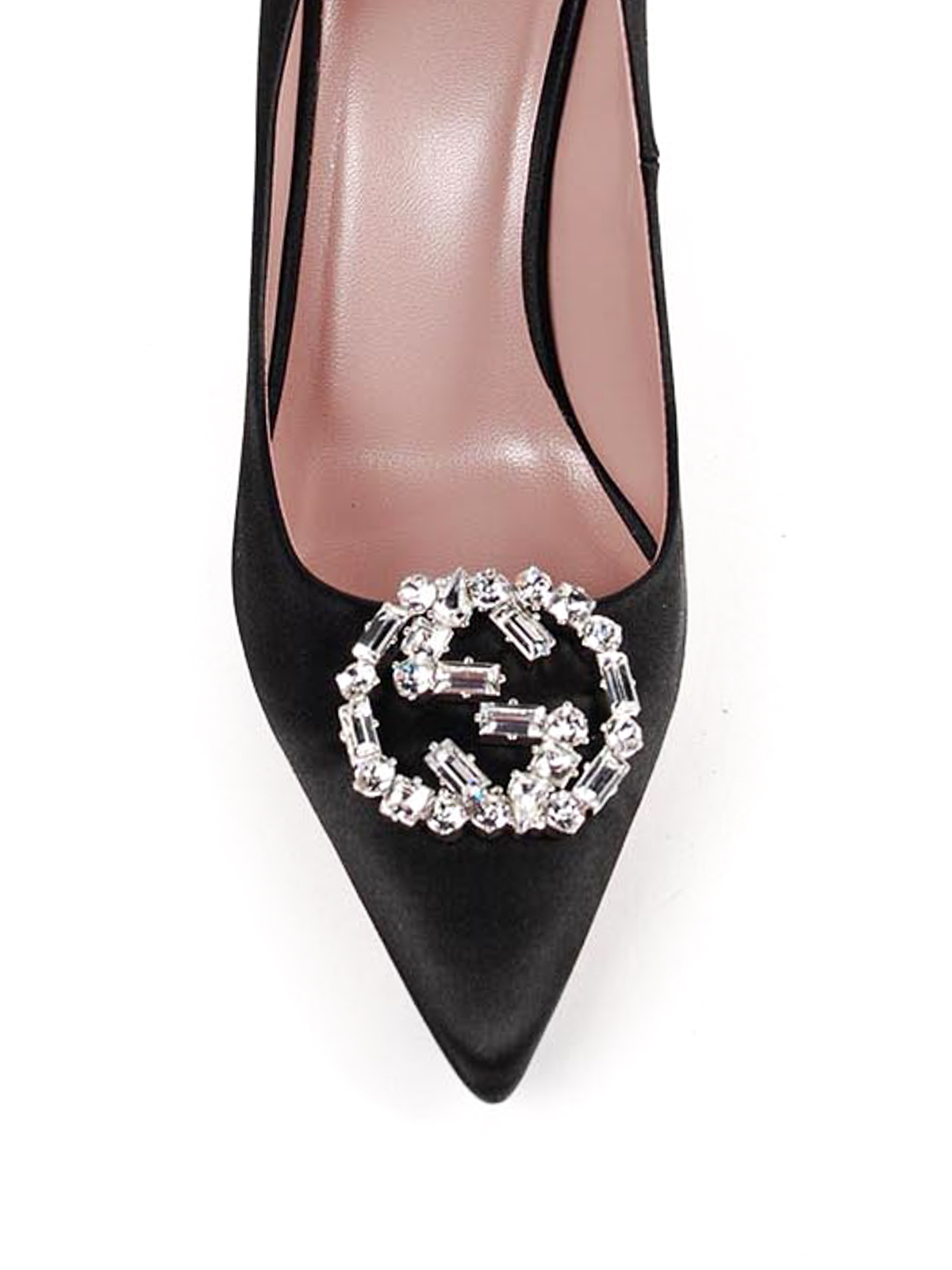 689fe118f6c2 Gucci - Crystal GG satin pumps - court shoes - 388506 F1400 1000