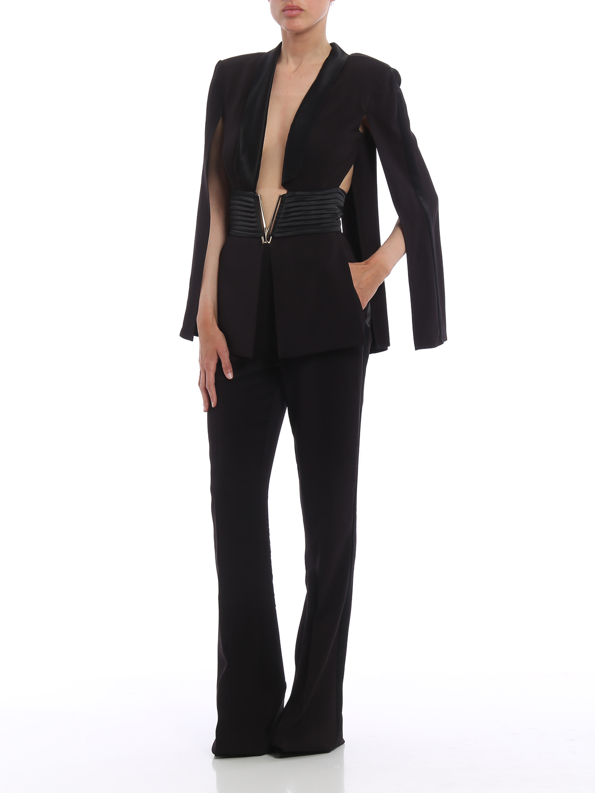 72b5595cf668 Elisabetta Franchi - Cut-out top and flared leg jumpsuit - jumpsuits ...