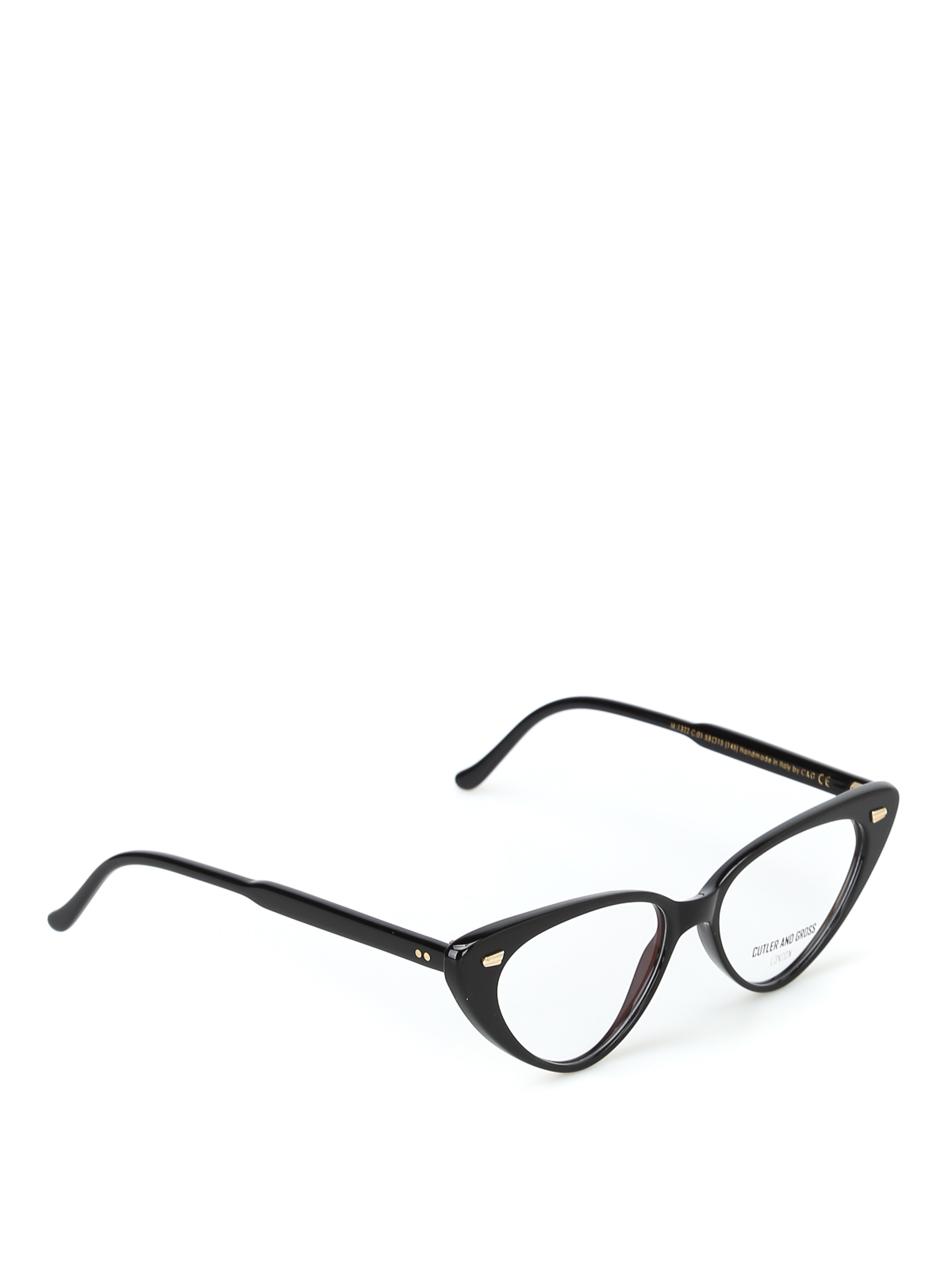 8a91c4d5ce5 CUTLER AND GROSS  Glasses - Super trendy black acetate cat-eye glasses