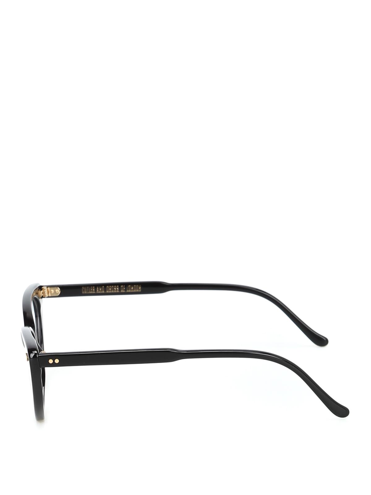 ca04b9ccce2 CUTLER AND GROSS  Glasses online - Super trendy black acetate cat-eye  glasses