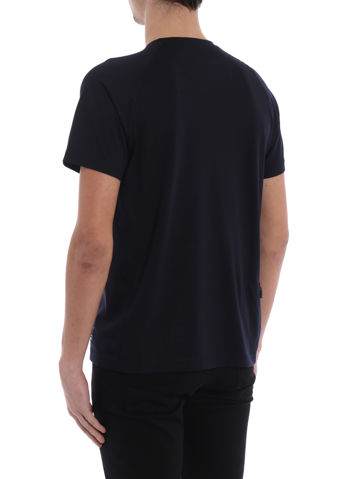 Dark blue wool jersey t shirt by z zegna t shirts ikrix for T shirt dark blue