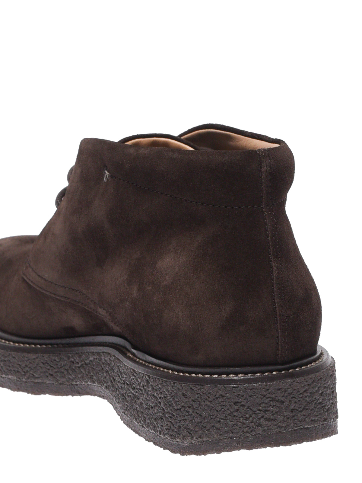 Tod'S - Dark brown suede desert ankle boots - ankle boots