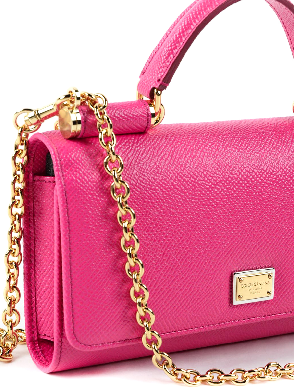 ... Pink Leather Clutches  save off 343d7 b3c77 Dauphine leather phone bag  shop online DOLCE GABBANA ... 9703461209544