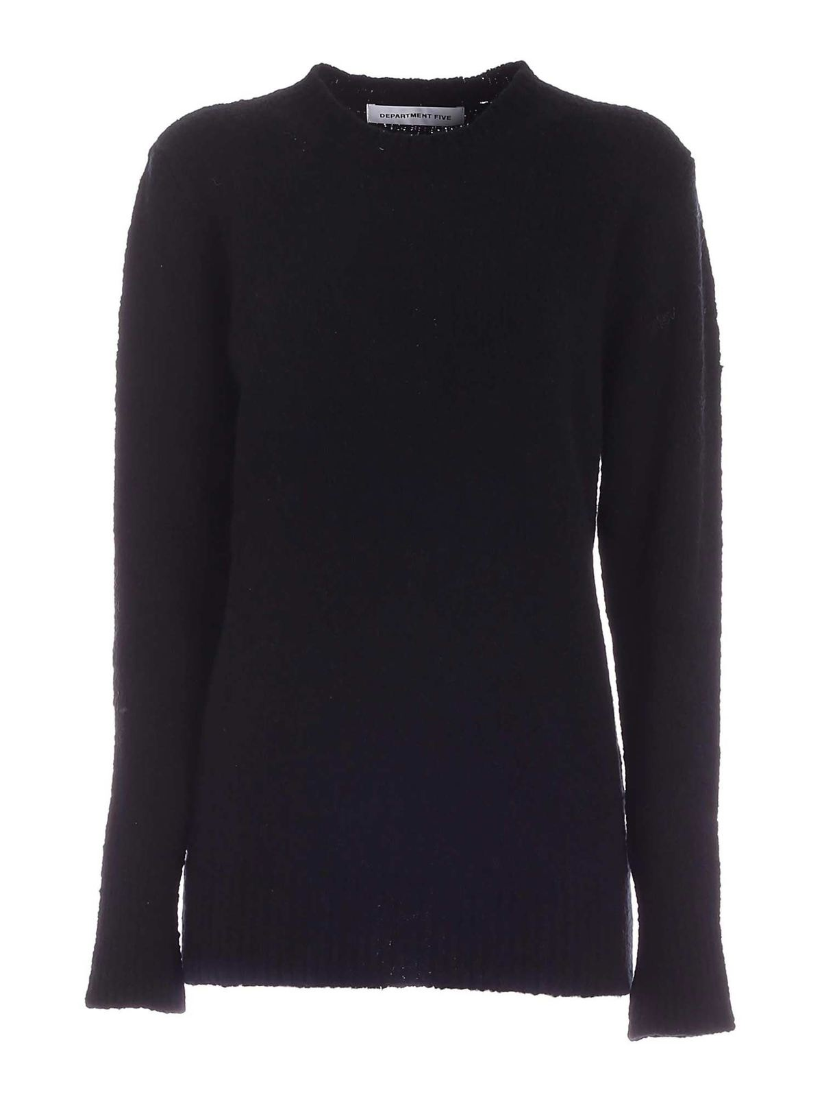 Department 5 MERINOS AND CASHMERE PULLOVER IN BLACK