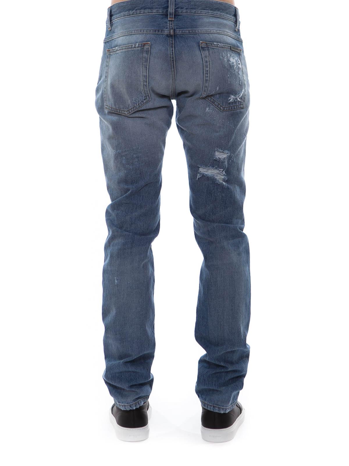 destroyed jeans by dolce gabbana straight leg jeans ikrix. Black Bedroom Furniture Sets. Home Design Ideas