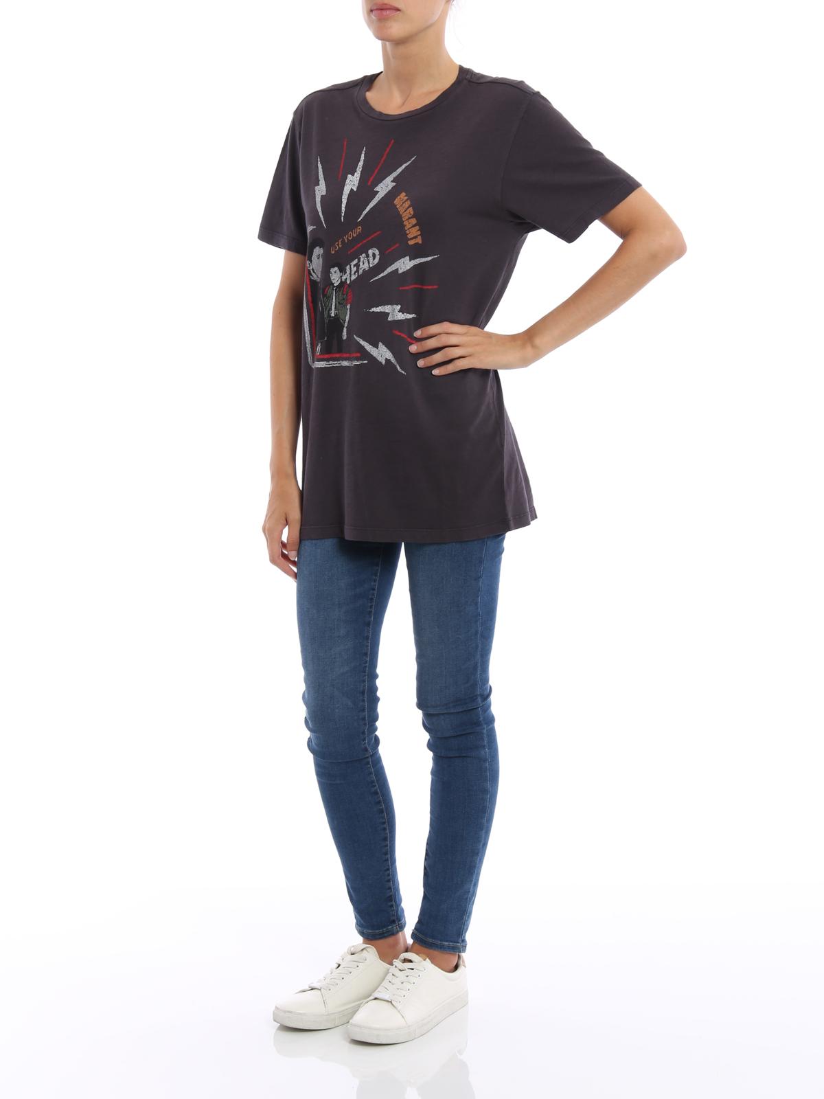 616d7216 Isabel marant etoile - Dewel print T-shirt - t-shirts ...