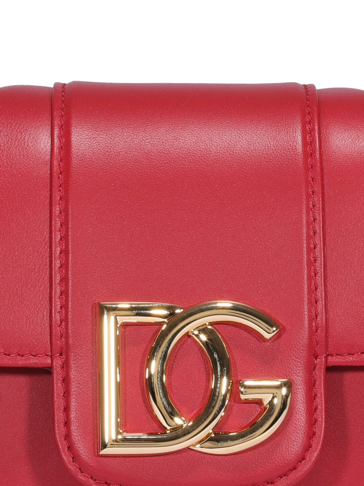 dolce and gabanna small red cross body chain bag