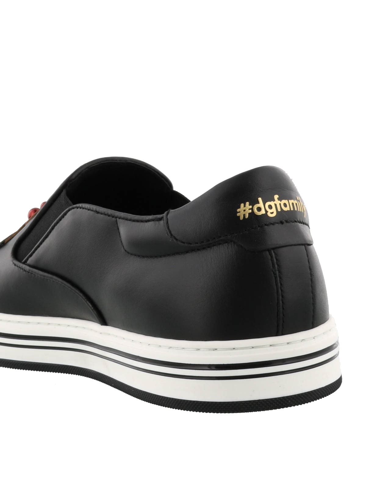 94d9a18cb Dolce   Gabbana -  DGFamily patch leather slip-ons - trainers ...