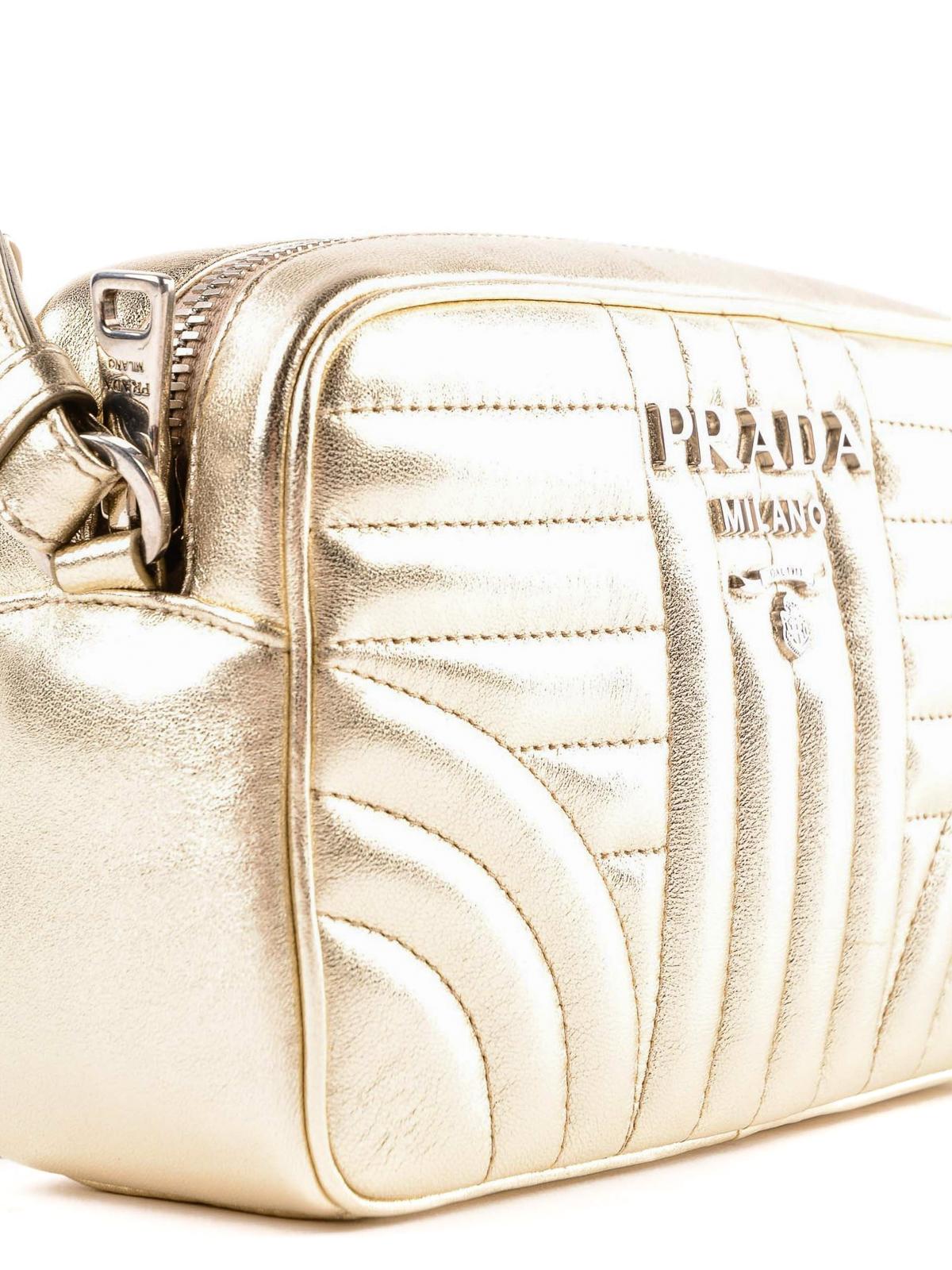 d4c45de2b7 Prada - Diagramme gold soft camera bag - کیف کج - 1BH084.2B0X.V.COI 846