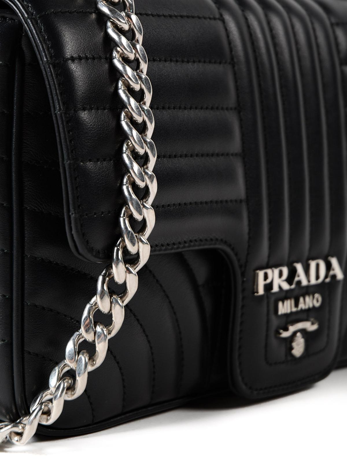 0ba4bbc0f01e Prada - Diagramme leather shoulder bag - shoulder bags ...