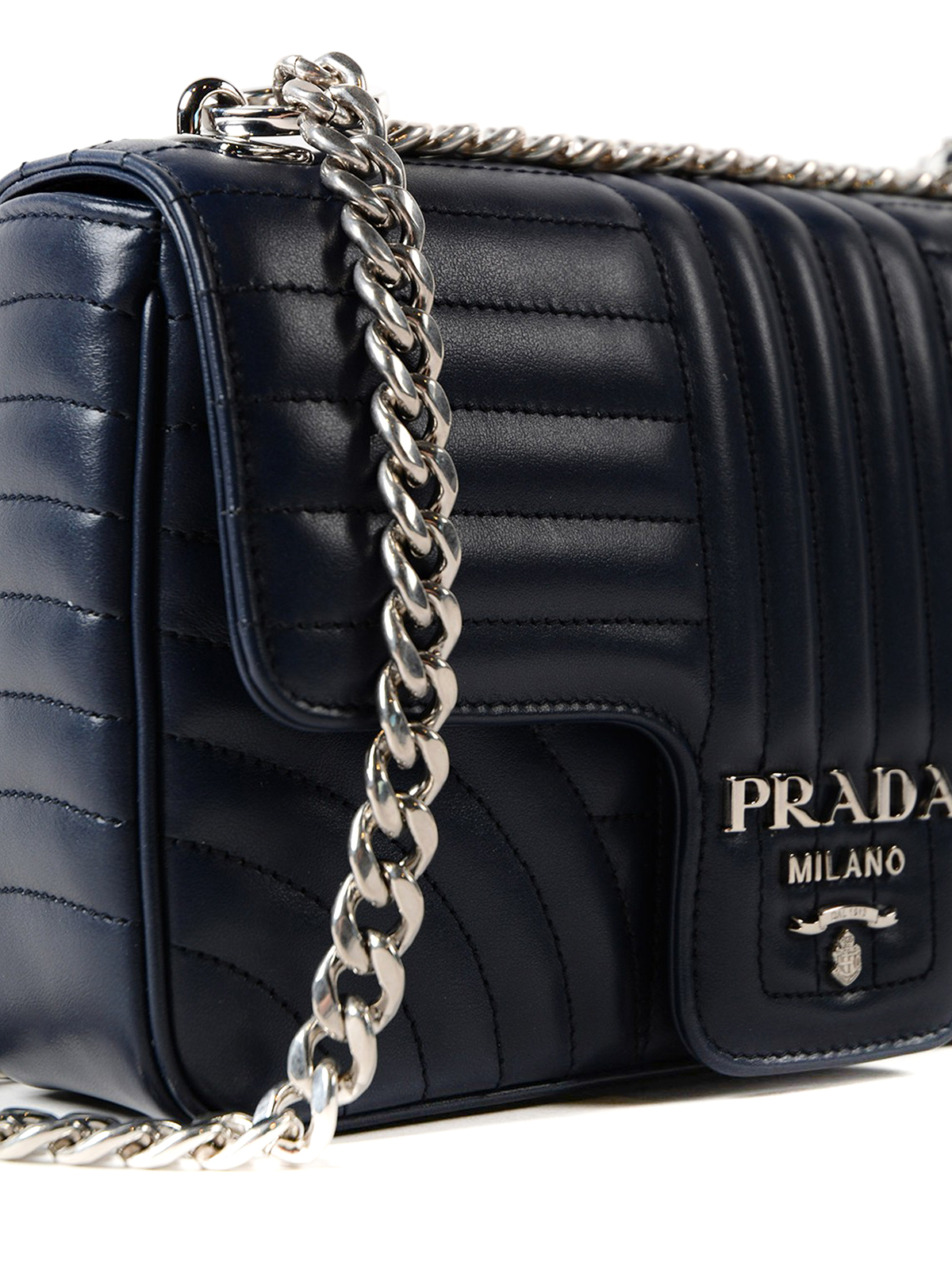 d557a74844b080 Prada - Diagramme leather shoulder bag - shoulder bags ...