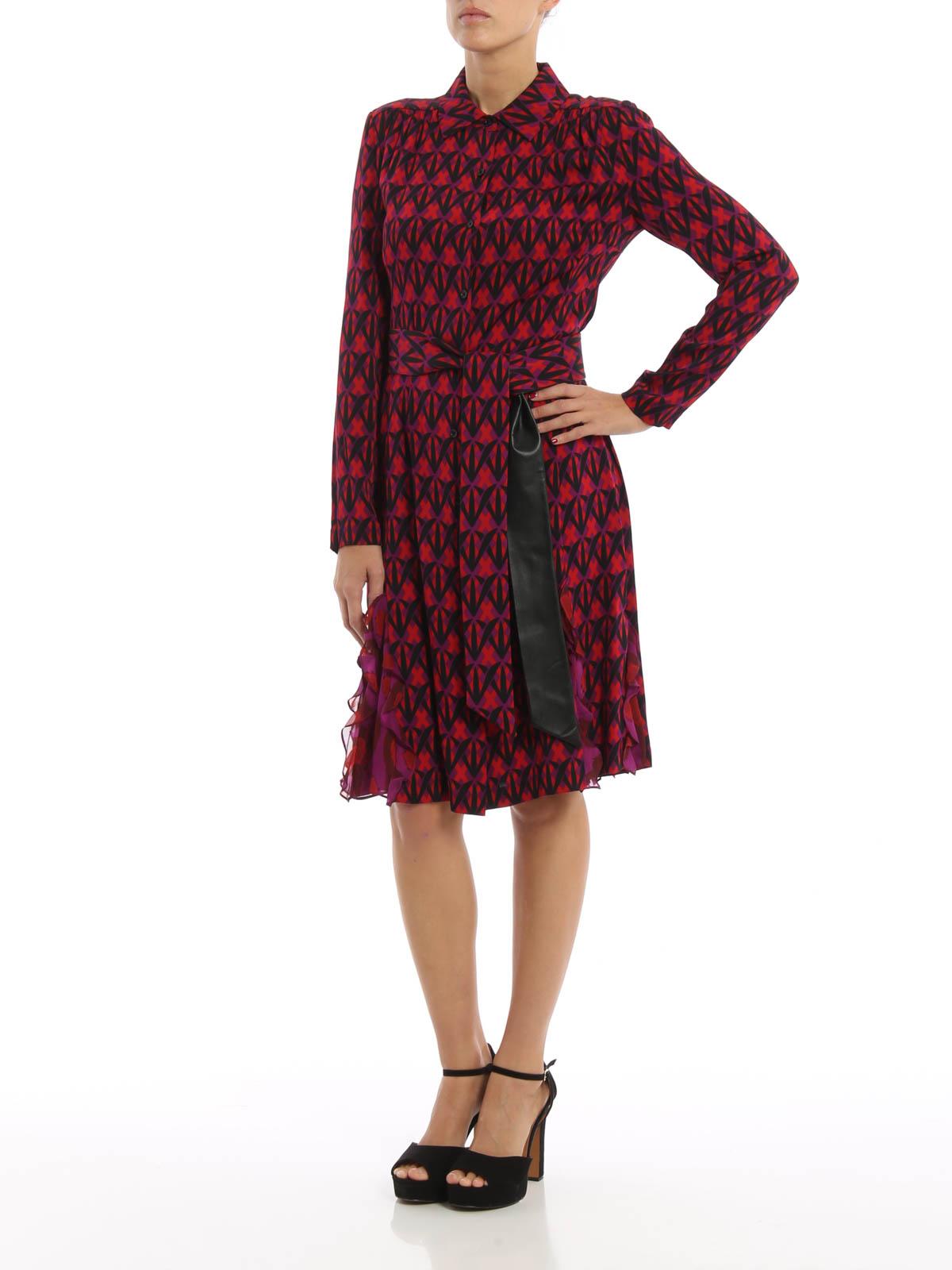 Catherine belted silk shirt dress von diane von for Diane von furstenberg shirt