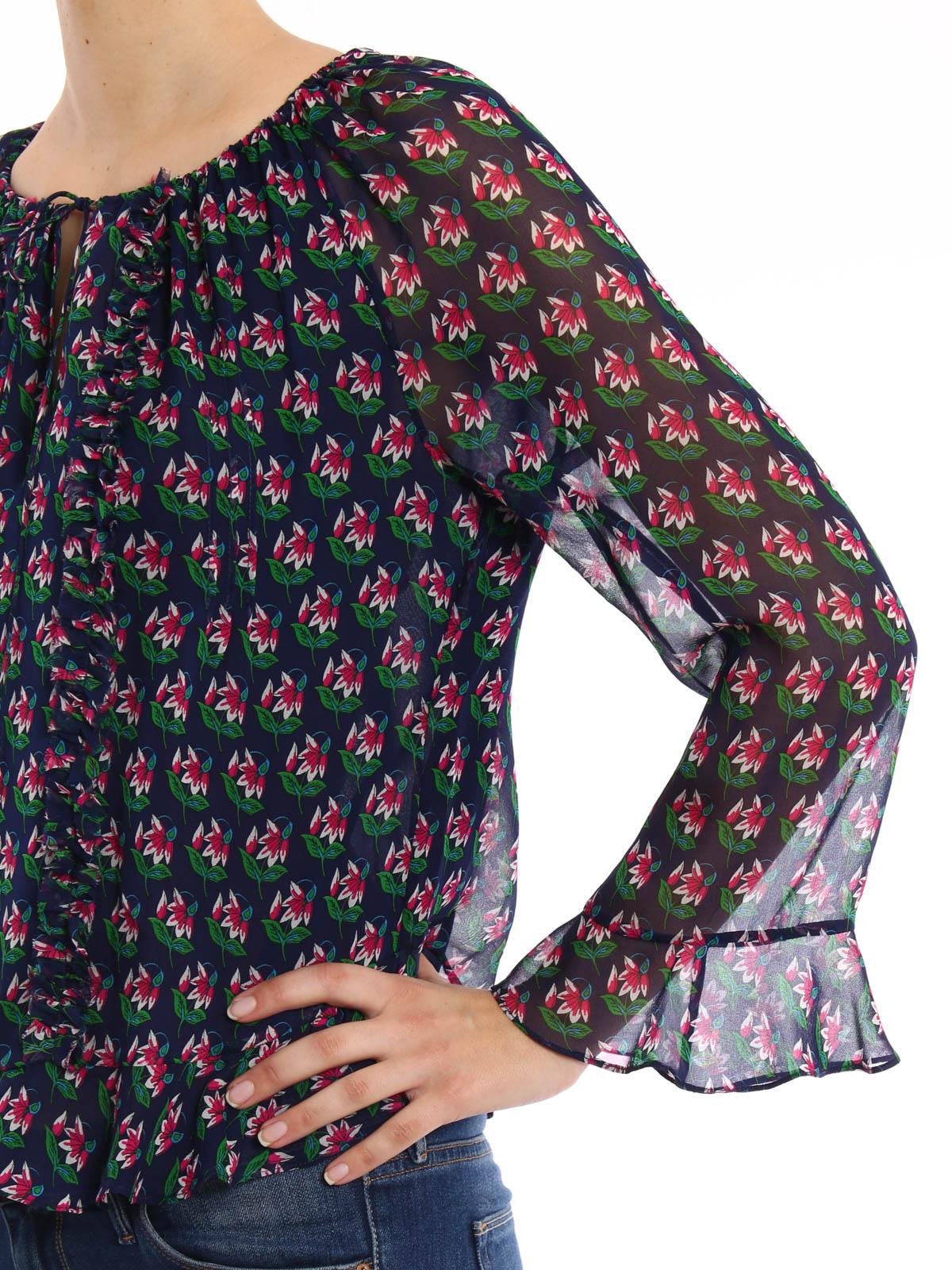 0a52a81e63c0ac Diane Von Furstenberg - Simonia flower print silk blouse - blouses ...