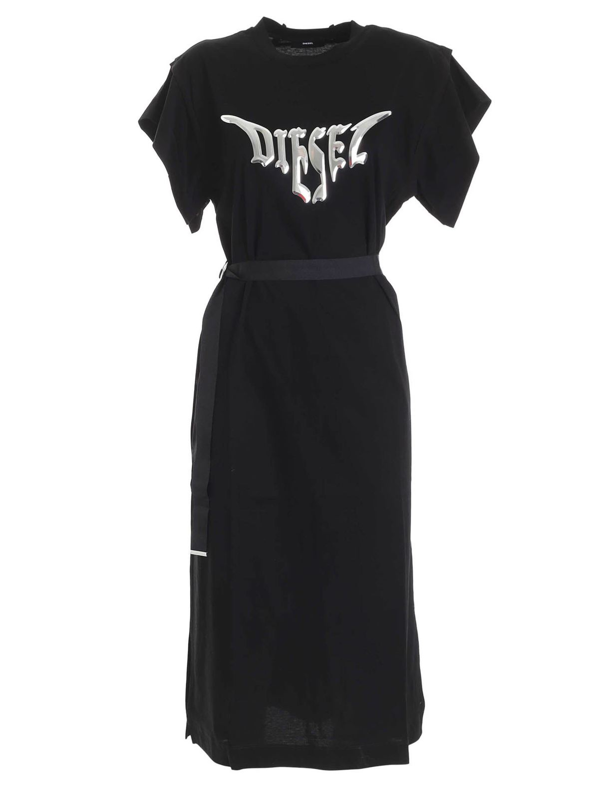 Diesel BRANDED D-FLIX DRESS IN BLACK