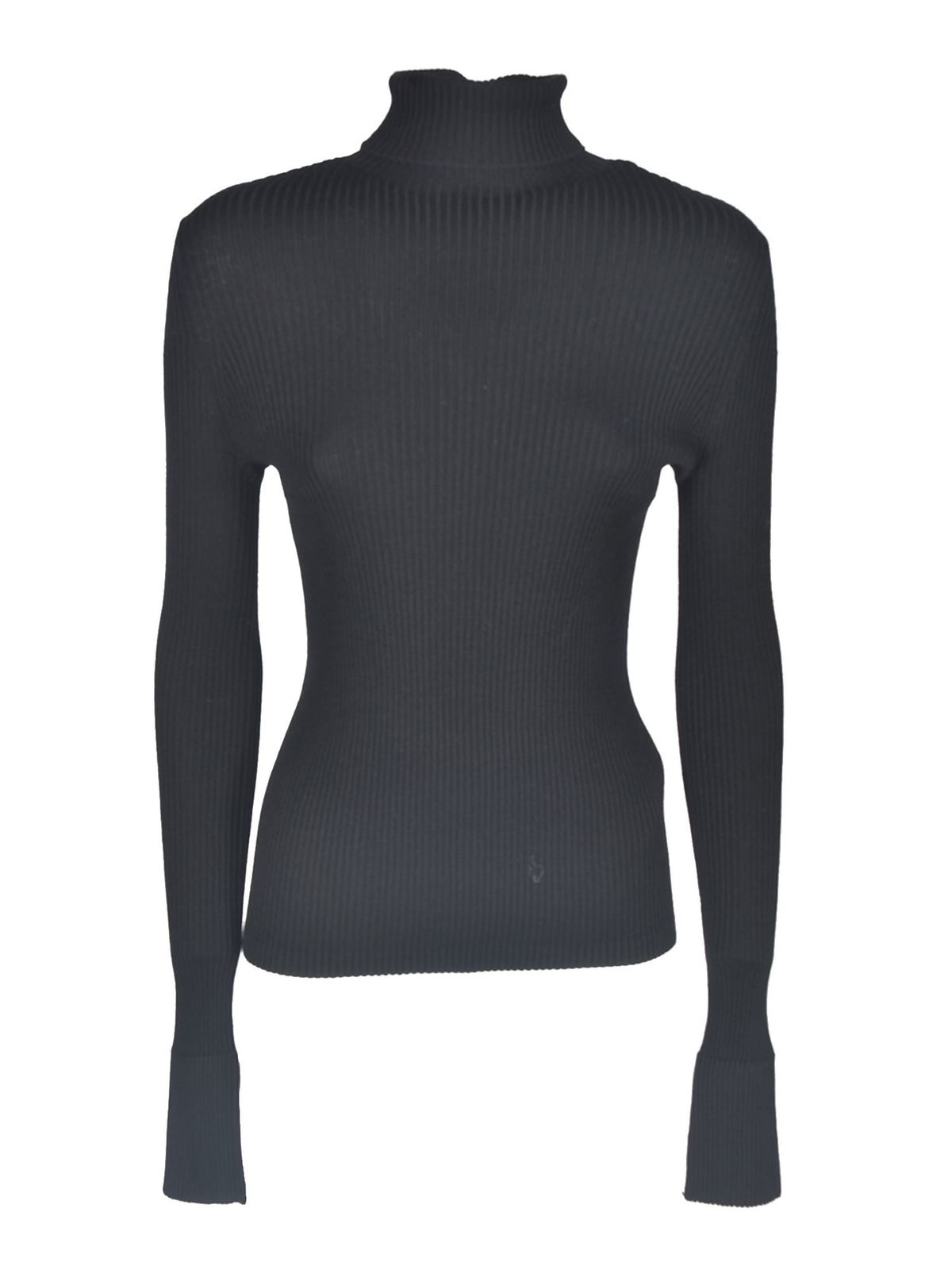 Diesel RIBBED KNIT PULLOVER IN BLACK
