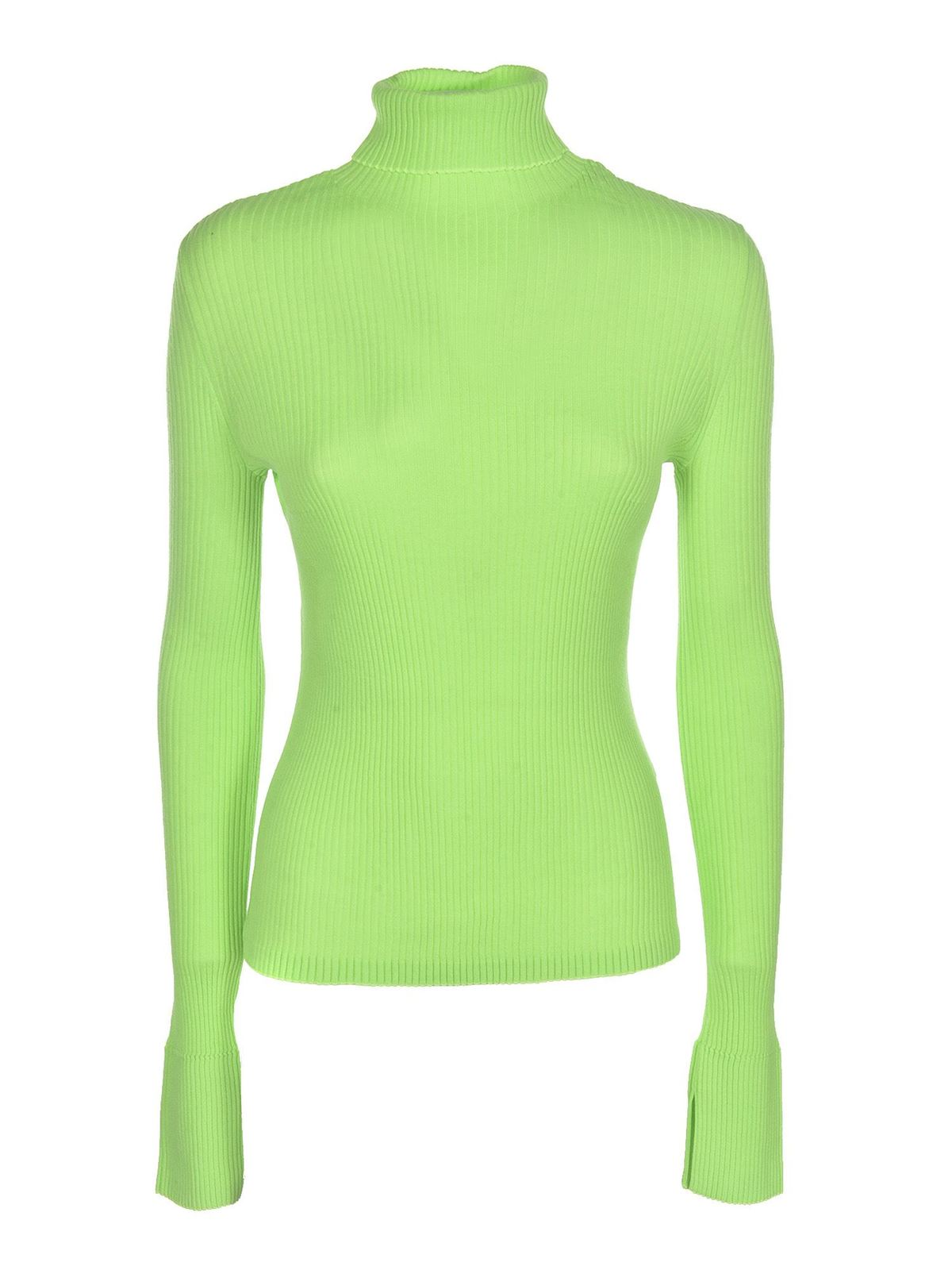 Diesel RIBBED KNIT PULLOVER IN GREEN