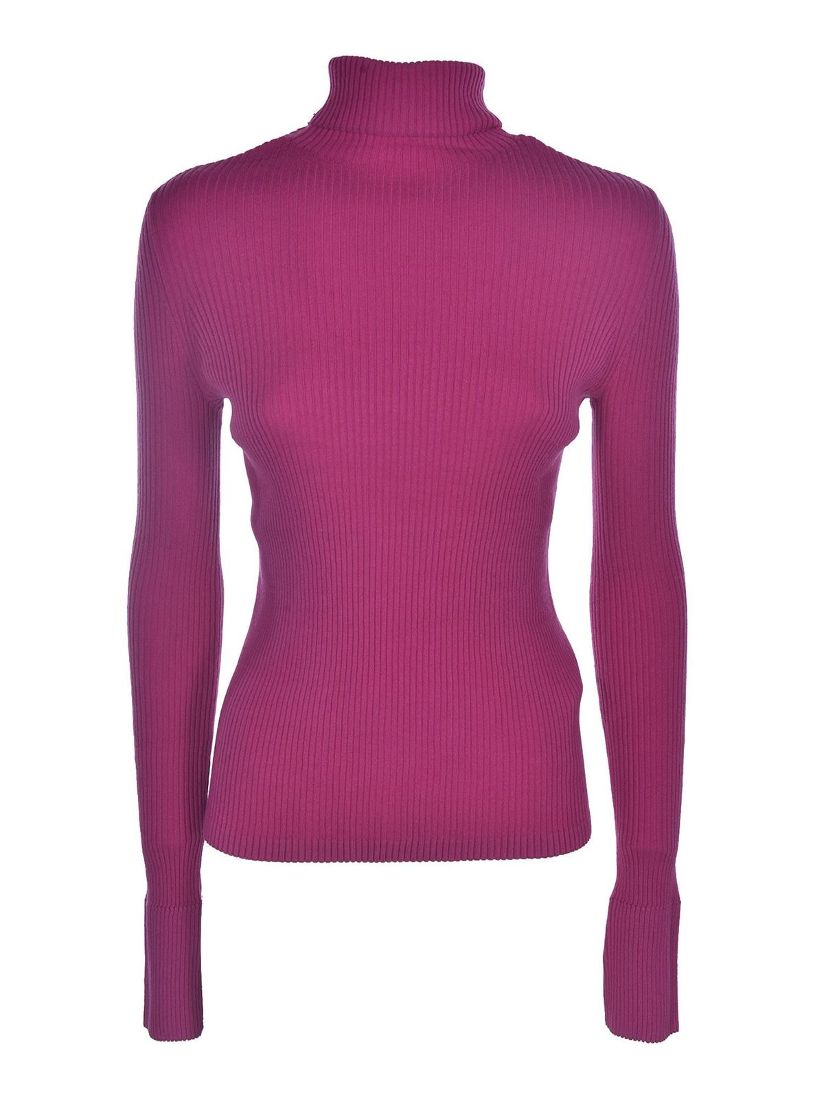 Diesel RIBBED KNIT PULLOVER IN PURPLE