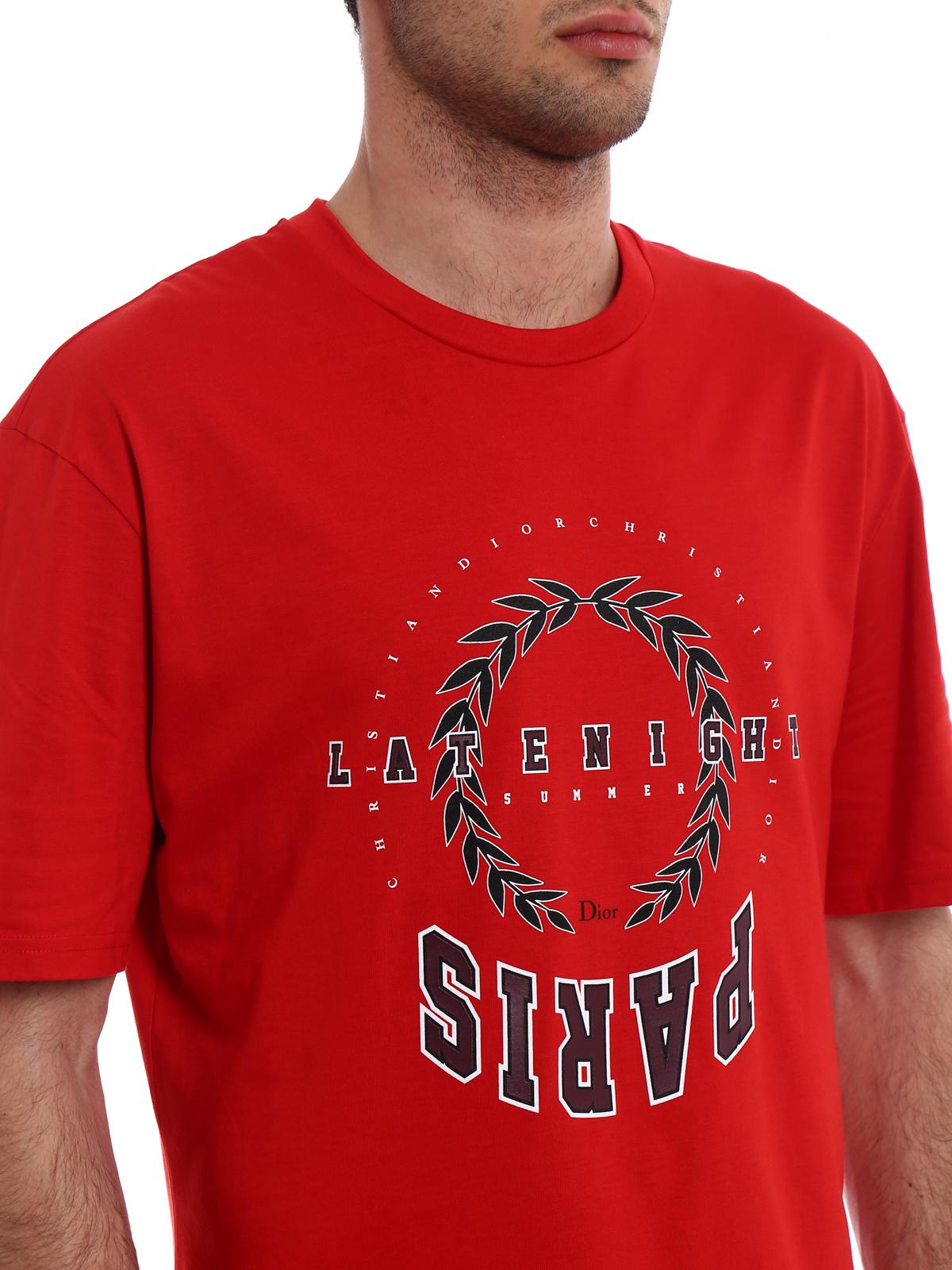 dior - t-shirt - rot - t-shirts - 863j621i4612312383 | ikrix