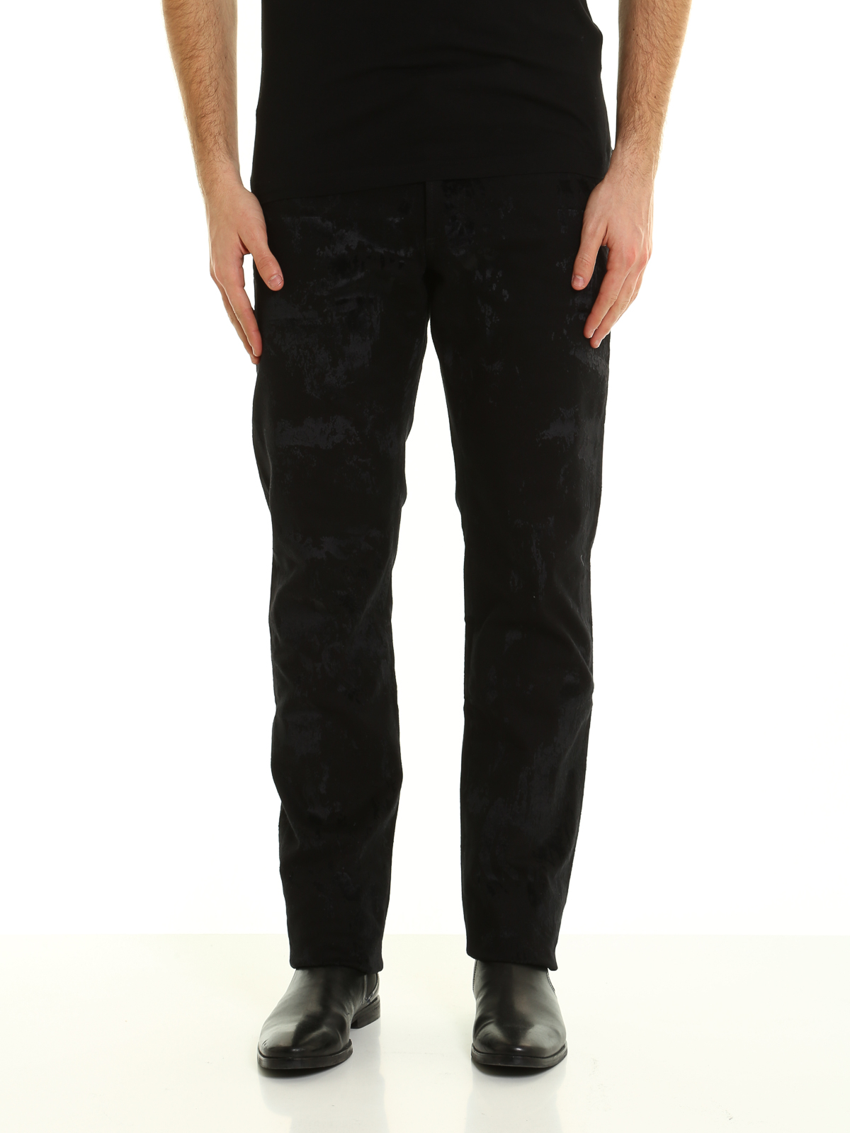 All over flocking jeans by Dior