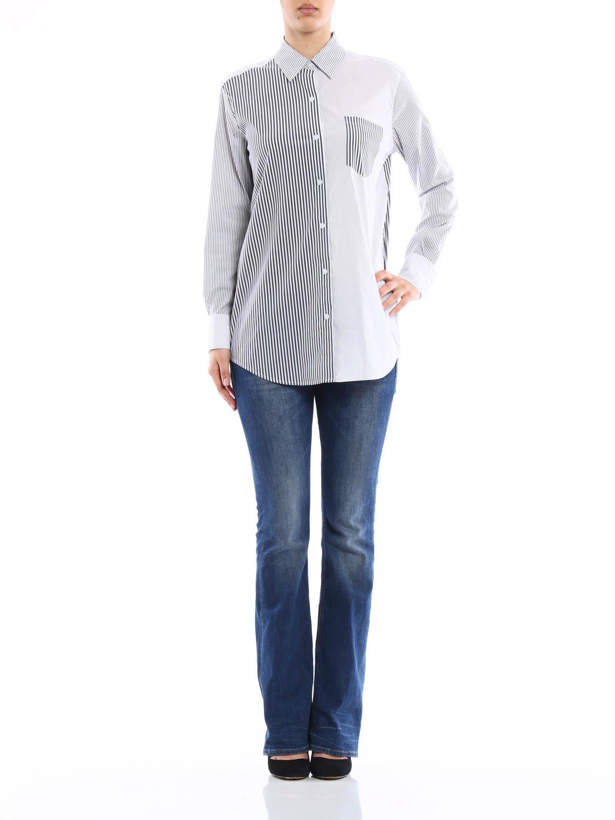 691abe17bb1c Dkny - Striped cotton shirt - Chemises - P4520035ES 001